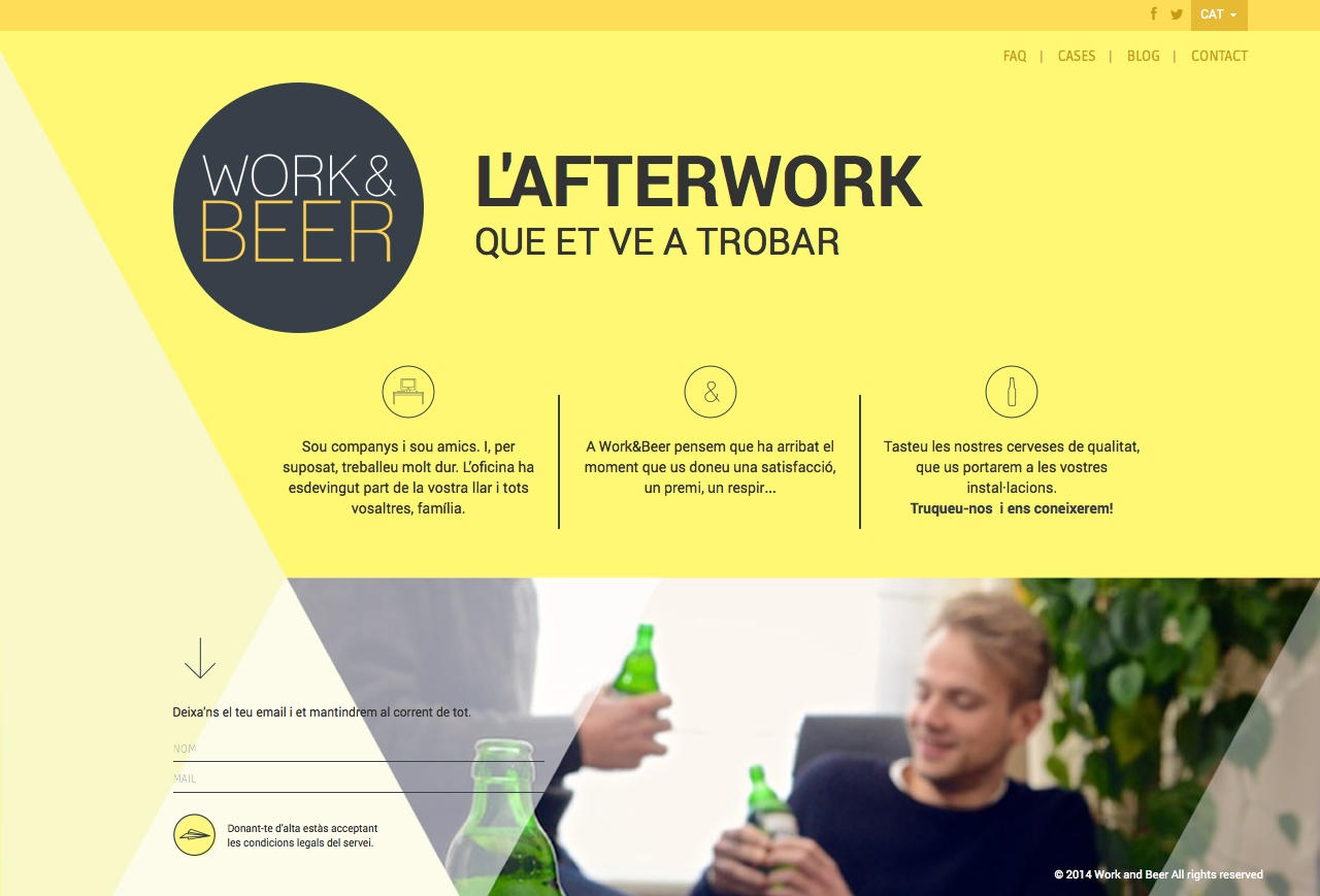 Work and Beer website